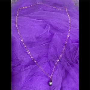 Hawaiian made rose gold, black pearl necklace